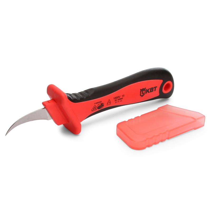 Electrician's dielectric knife with bent blade НМИ-03