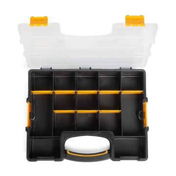 Plastic case-organizer with replaceable modules for small items' storage «Profi» series